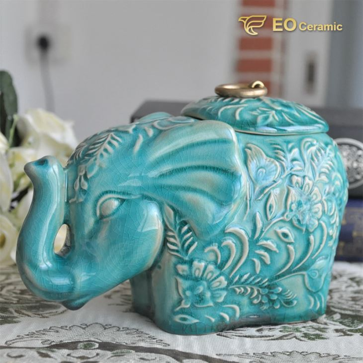 Elephant Ceramic Candy Jar