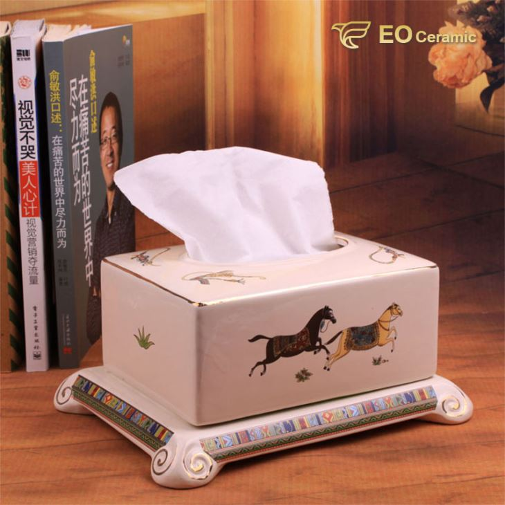 Luxury Ceramic Tissue Box