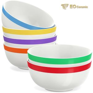 Ceramic Bowl Set with Strip