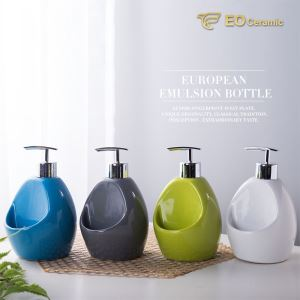 Ceramic Lotion Dispenser with Soap Dish