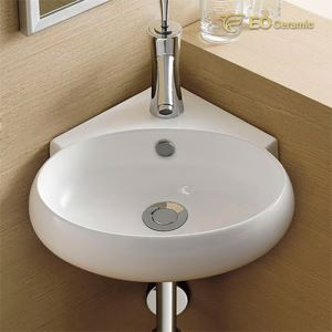 Corner Wall Mounted Washbasin
