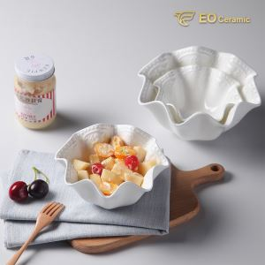 Flower Shape Ceramic Fruit Bowl
