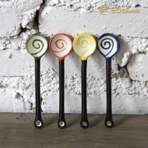 Lollipop Shape Ceramic Coffee Spoon