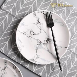 Marbled Ceramic Plate Set