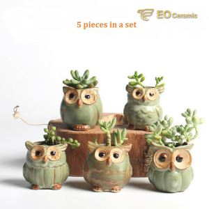 Owl-shape Ceramic Flower Pot