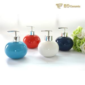 Round Ceramic Lotion Dispenser