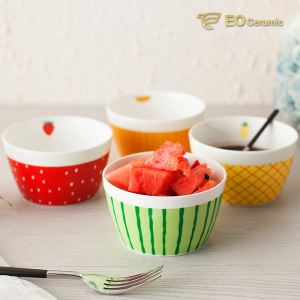 Round Lovely Ceramic Fruit Bowl