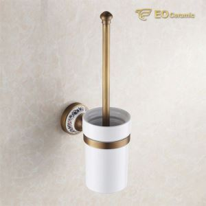 Wall Mounted Ceramic Toilet Brush Holder