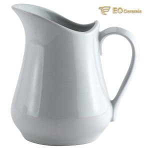 White Ceramic Milk Pitcher