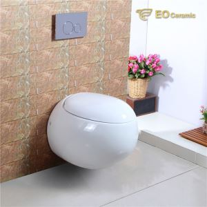 White Ceramic Wall Mounted Toilet