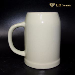 White Customized Ceramic Beer Mug