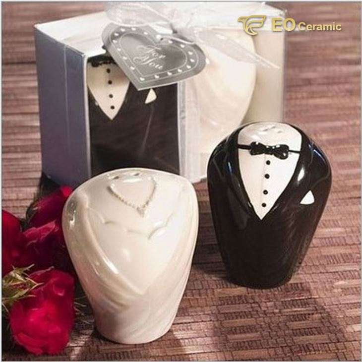 Wedding Ceramic Spice Jar