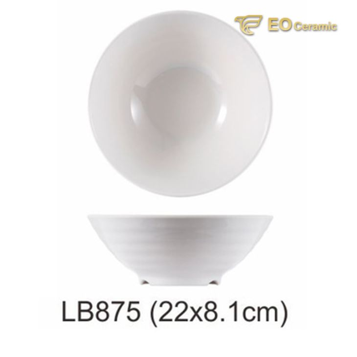 Imitation Porcelain Thread Bottom Large Bowl