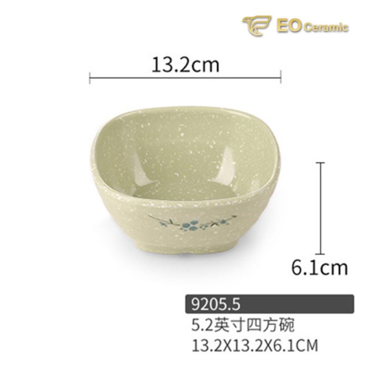Light Ink Color Fast Food Rice Bowl Melamine Tableware