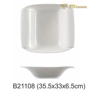 7 Inch White Large Noodles Imitation Porcelain Bowl