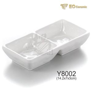 Double-grid Imitation Porcelain Flavored Dish