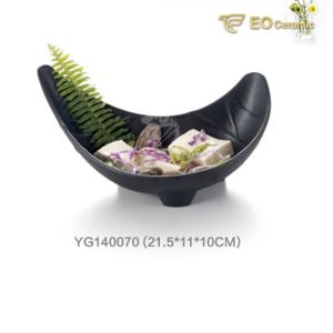 Elliptical Frosted Imitation Porcelain Plate