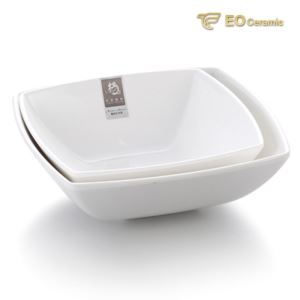 Porcelain White Four-sided Porcelain Bowl