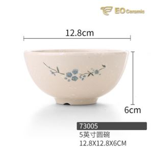 Rice Orchid Snack Melamine Rice Bowl