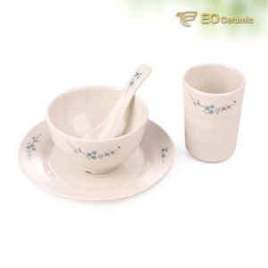 Three-piece Set Imitation Porcelain Tableware