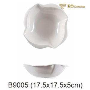 White Imitation Porcelain Big Bowl for Fast Food