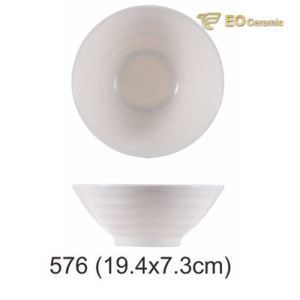 White Pointed Bottom Imitation Porcelain Bowl
