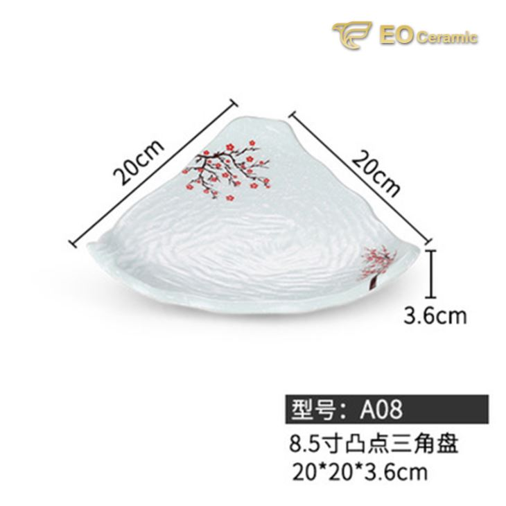 Snow Night Red Drop Dessert Imitation Porcelain Plate
